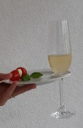Partyteller mit Glashalterung