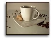 Kaffeetasse modern m. Untertasse